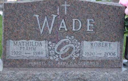 FRAHM WADE, MATHILDA - Tama County, Iowa | MATHILDA FRAHM WADE