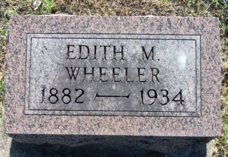 WHEELER, EDITH - Tama County, Iowa | EDITH WHEELER