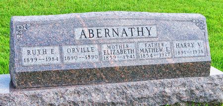 ABERNATHY, RUTH EVA - Taylor County, Iowa   RUTH EVA ABERNATHY