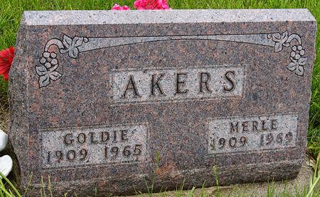 OZIAH AKERS, GOLDIE - Taylor County, Iowa | GOLDIE OZIAH AKERS