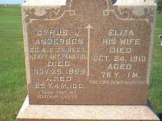 ANDERSON, ELIZA - Taylor County, Iowa | ELIZA ANDERSON