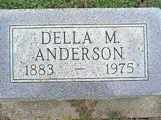 ANDERSON, DELLA M. - Taylor County, Iowa   DELLA M. ANDERSON