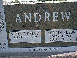 ANDREW, ADRAIN - Taylor County, Iowa   ADRAIN ANDREW