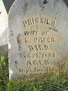 BAKER, PRISSILA - Taylor County, Iowa | PRISSILA BAKER