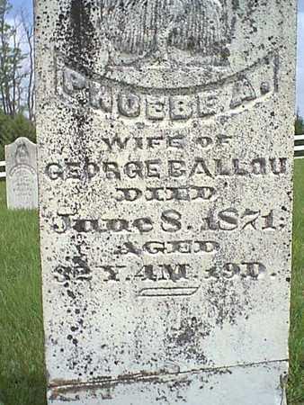 BALLOU, PHOEBE A. - Taylor County, Iowa   PHOEBE A. BALLOU