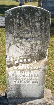 NEWTON BARRON, MARY J. - Taylor County, Iowa | MARY J. NEWTON BARRON