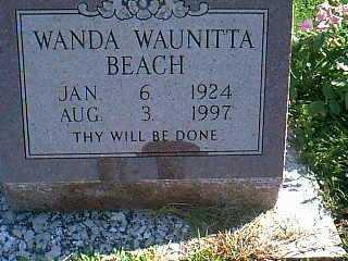 BEACH, WANDA WAUNITTA - Taylor County, Iowa | WANDA WAUNITTA BEACH