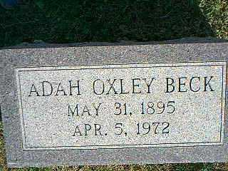 OXLEY BECK, ADAH - Taylor County, Iowa | ADAH OXLEY BECK