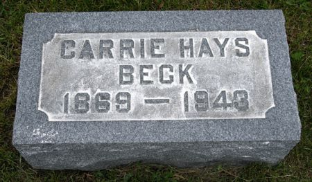 HAYS BECK, CARRIE - Taylor County, Iowa | CARRIE HAYS BECK