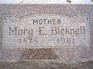 BICKNELL, MARY - Taylor County, Iowa | MARY BICKNELL
