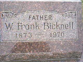 BICKNELL, W. FRANK - Taylor County, Iowa | W. FRANK BICKNELL