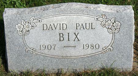 BIX, DAVID PAUL - Taylor County, Iowa | DAVID PAUL BIX