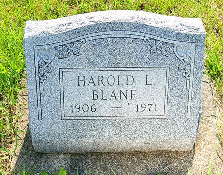 BLANE, HAROLD LEROY - Taylor County, Iowa   HAROLD LEROY BLANE