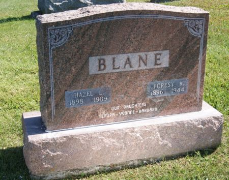 BLANE, FOREST RICHARD - Taylor County, Iowa | FOREST RICHARD BLANE