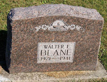 BLANE, WALTER EDWIN - Taylor County, Iowa | WALTER EDWIN BLANE