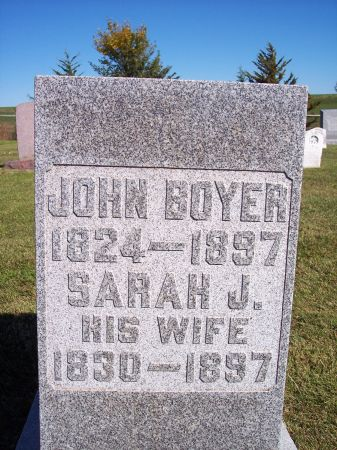 BOYER, SARAH J. - Taylor County, Iowa | SARAH J. BOYER