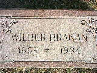 BRANAN, WILBUR - Taylor County, Iowa   WILBUR BRANAN