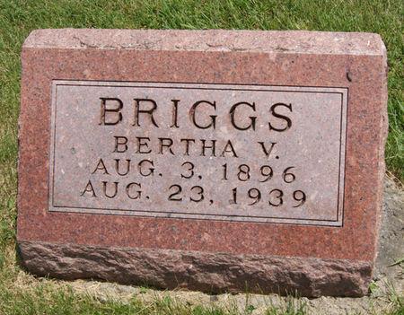 NEMIER BRIGGS, BERTHA V. - Taylor County, Iowa | BERTHA V. NEMIER BRIGGS