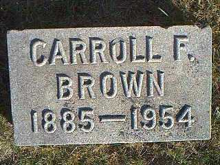 BROWN, CARROLL F. - Taylor County, Iowa | CARROLL F. BROWN