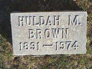 BROWN, HULDAH M. - Taylor County, Iowa | HULDAH M. BROWN