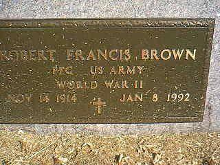 BROWN, ROBERT FRANCIS - Taylor County, Iowa | ROBERT FRANCIS BROWN