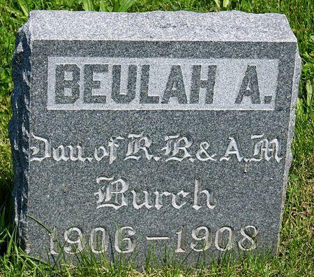 BURCH, BEULAH A. - Taylor County, Iowa | BEULAH A. BURCH