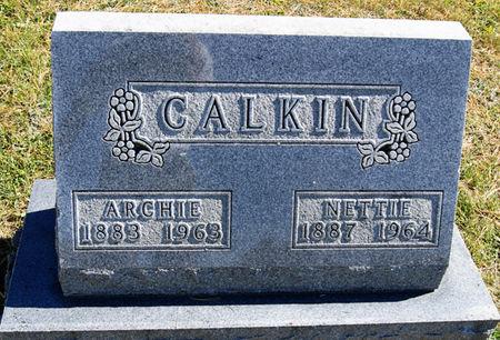 BROWN CALKIN, NETTIE ADA - Taylor County, Iowa   NETTIE ADA BROWN CALKIN