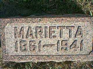 CARPENTER, MARIETTA - Taylor County, Iowa   MARIETTA CARPENTER