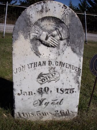CAVENDER, JONATHAN B. - Taylor County, Iowa | JONATHAN B. CAVENDER