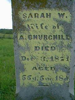 CHURCHILL, SARAH - Taylor County, Iowa | SARAH CHURCHILL