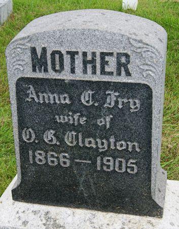 FRY CLAYTON, ANNA CAROLINE - Taylor County, Iowa | ANNA CAROLINE FRY CLAYTON
