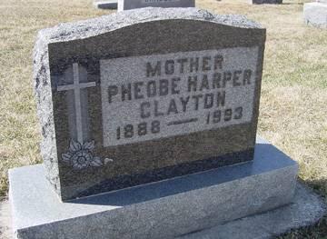 HARPER CLAYTON, PHEOBE - Taylor County, Iowa | PHEOBE HARPER CLAYTON