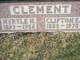 CLEMENT, MYRTLE M. - Taylor County, Iowa | MYRTLE M. CLEMENT