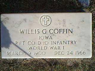COFFIN, WILLIS G. - Taylor County, Iowa | WILLIS G. COFFIN