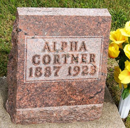 HUBBARD CORTNER, ALPHA LEORA - Taylor County, Iowa | ALPHA LEORA HUBBARD CORTNER