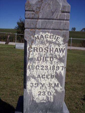 CROSHAW, MAGGIE - Taylor County, Iowa | MAGGIE CROSHAW