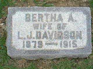 DAVIDSON, BERTHA A. - Taylor County, Iowa | BERTHA A. DAVIDSON