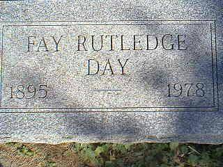 DAY, FAY RUTLEDGE - Taylor County, Iowa | FAY RUTLEDGE DAY