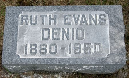 EVANS DENIO, RUTH HALLIE - Taylor County, Iowa | RUTH HALLIE EVANS DENIO