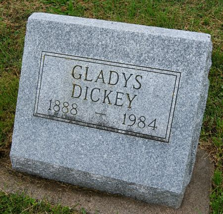 DICKEY, GLADYS - Taylor County, Iowa   GLADYS DICKEY