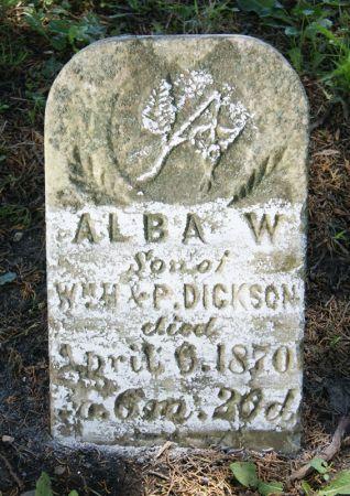 DICKSON, ALBA W. - Taylor County, Iowa   ALBA W. DICKSON