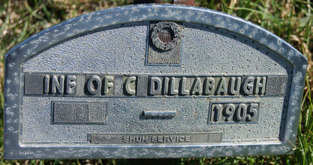 DILLABAUGH, CHARLES W., INFANT OF - Taylor County, Iowa | CHARLES W., INFANT OF DILLABAUGH