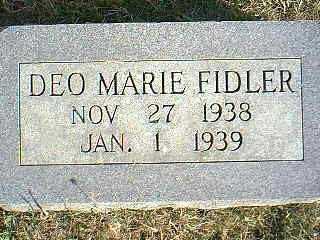 FIDLER, DEO MARIE - Taylor County, Iowa | DEO MARIE FIDLER
