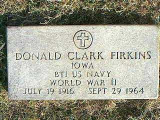 FIRKINS, DONALD CLARK - Taylor County, Iowa | DONALD CLARK FIRKINS