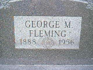 FLEMING, GEORGE M. - Taylor County, Iowa   GEORGE M. FLEMING