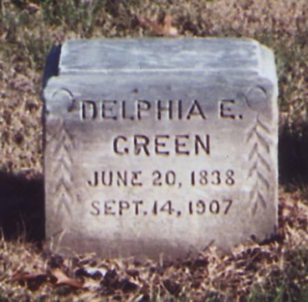 MCCLOUD GREEN, DELPHIA ELIZABETH - Taylor County, Iowa   DELPHIA ELIZABETH MCCLOUD GREEN