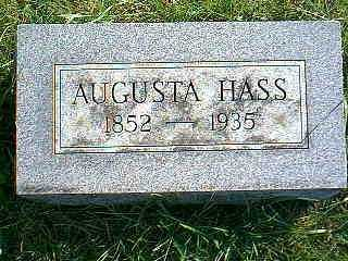 HASS, AUGUSTA - Taylor County, Iowa | AUGUSTA HASS