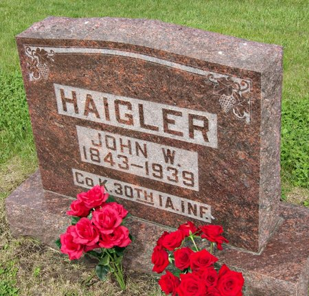 HAIGLER, JOHN WESLEY - Taylor County, Iowa | JOHN WESLEY HAIGLER