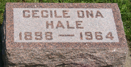 MORRIS HALE, CECILE ONA - Taylor County, Iowa | CECILE ONA MORRIS HALE