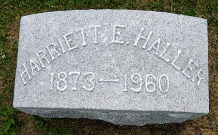 HALLER, HARRIETT E.